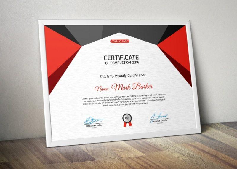 Multi Color Diploma Certificate Template