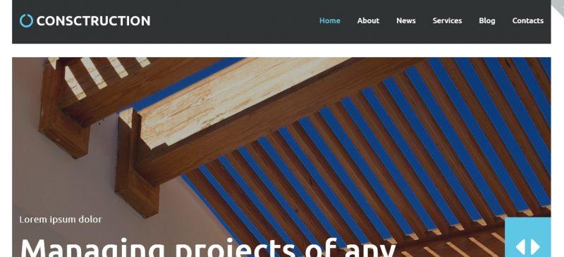 Multi Langual Construction WordPress Theme