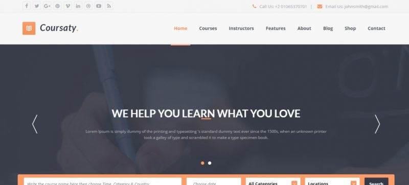 Multipurpose Education WordPress Theme