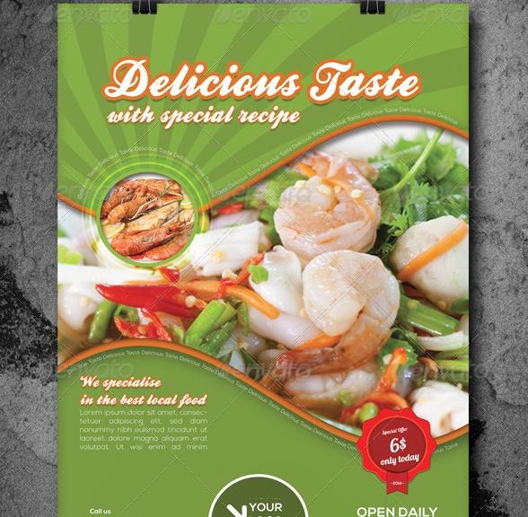 Multipurpose Food Flyer Template