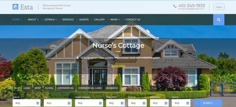 Multipurpose Real Estate WordPress Themes