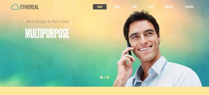 Multipurpose WordPress Parallax Theme