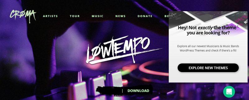 Music Album WordPress Theme