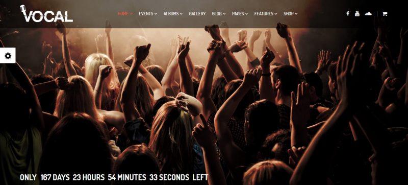 Music Event WordPress Theme