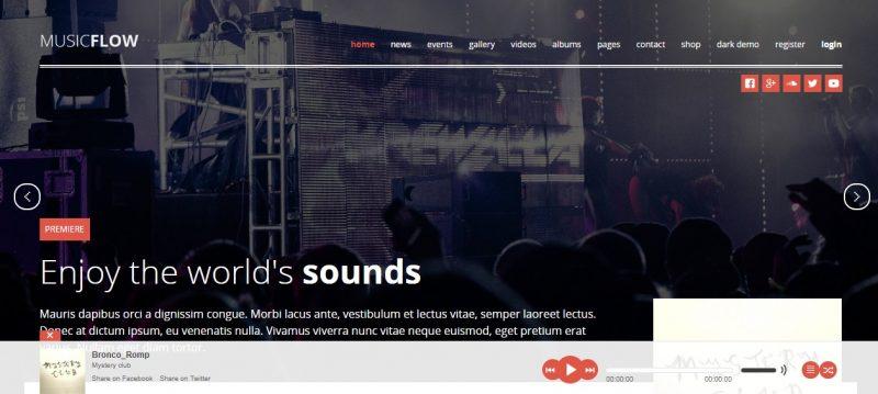 Music Singer WordPress Theme