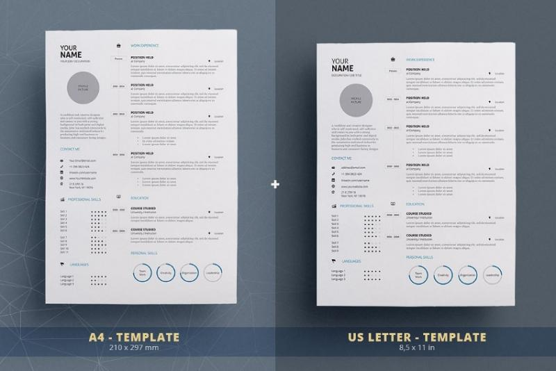 One Page Designer Resume Template