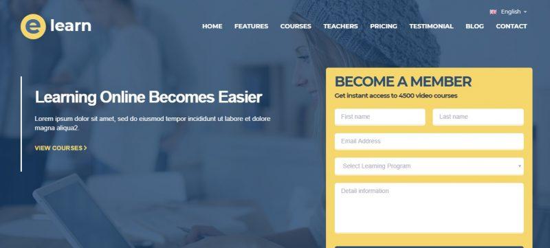 One Page Education WordPress Theme