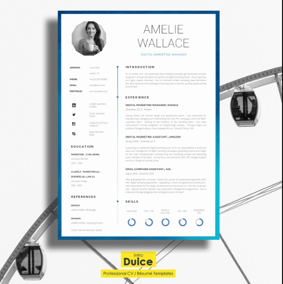 One Page IT Resume Template