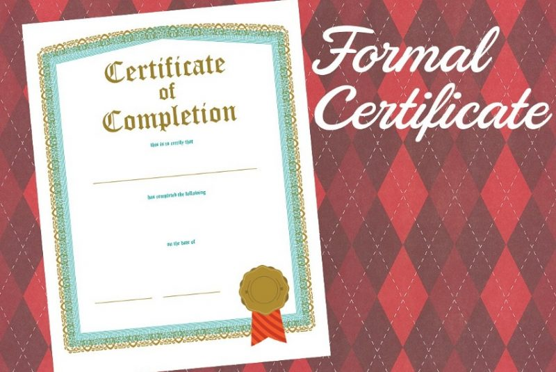 PDF Certificate of Completion Template