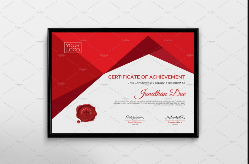 PDF Diploma Certificate Template