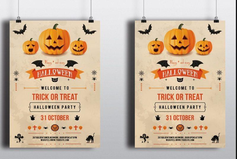 PSD Halloween Invitation Template