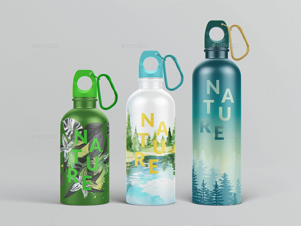 15+ Water Bottle Mockup PSD for Branding - Graphic Cloud