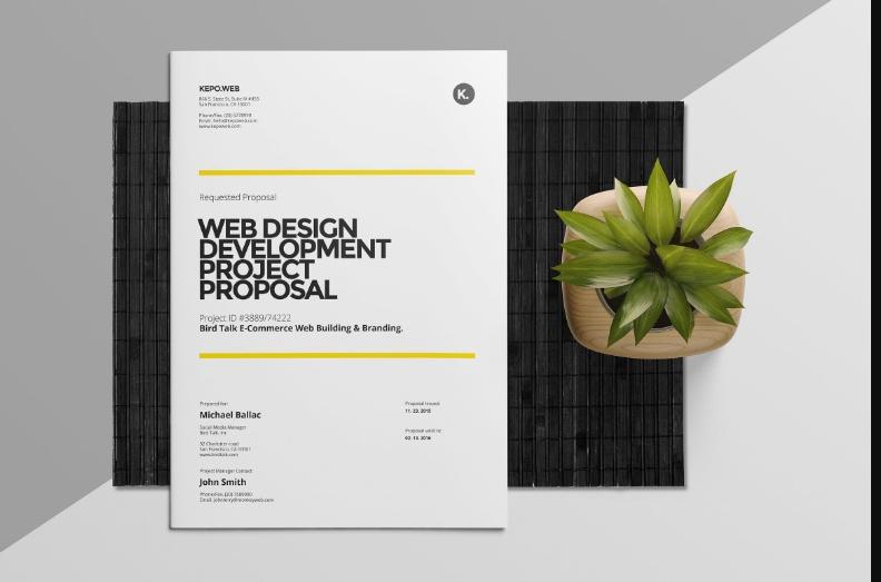 PSD Web Design Proposal Template