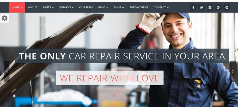 Parallax Automotive Theme WordPress