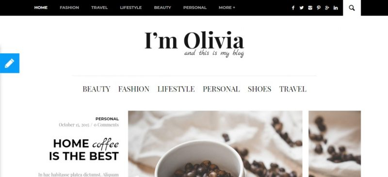 Personal Blog SEO Ready WordPress Theme