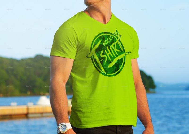 Photo Realistic T Shirt Mockup