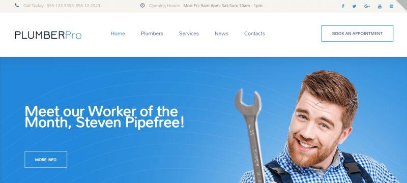 Plumbing SEO WordPress Theme
