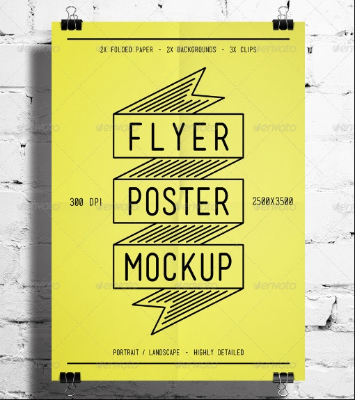 Poster and Flyer Mockup PSD