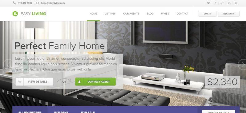 Powerfull WordPress Real Estate Theme