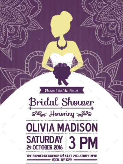 Print Ready Bridal Shower Template PSD