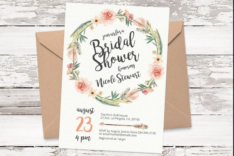 Print Ready Bridal Shower Template