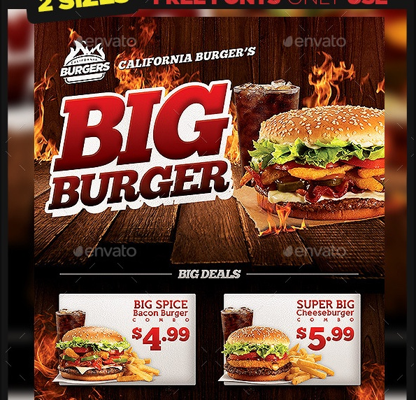 Print Ready Burger Flyer Template