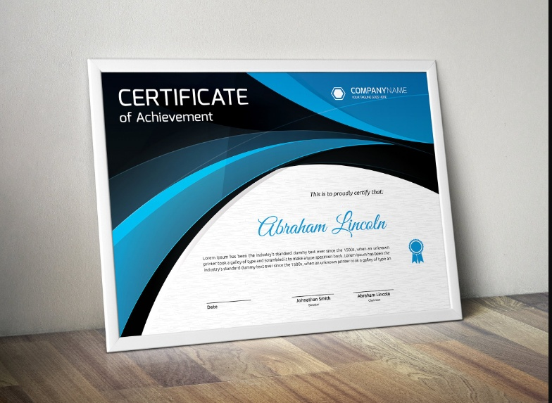 Print Ready Certificate of Achievement Template