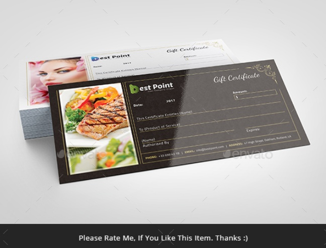 Print Ready Gift Certificate Template