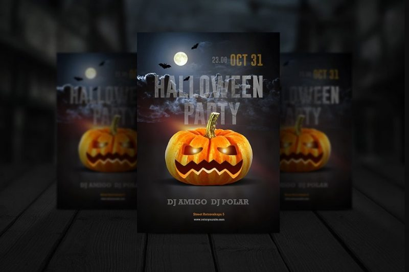 Print Ready Halloween Invitation Template