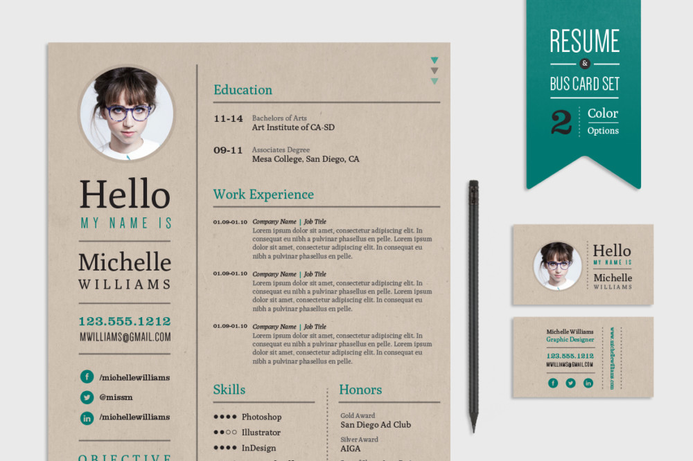 Print Ready Web Designer Resume Template