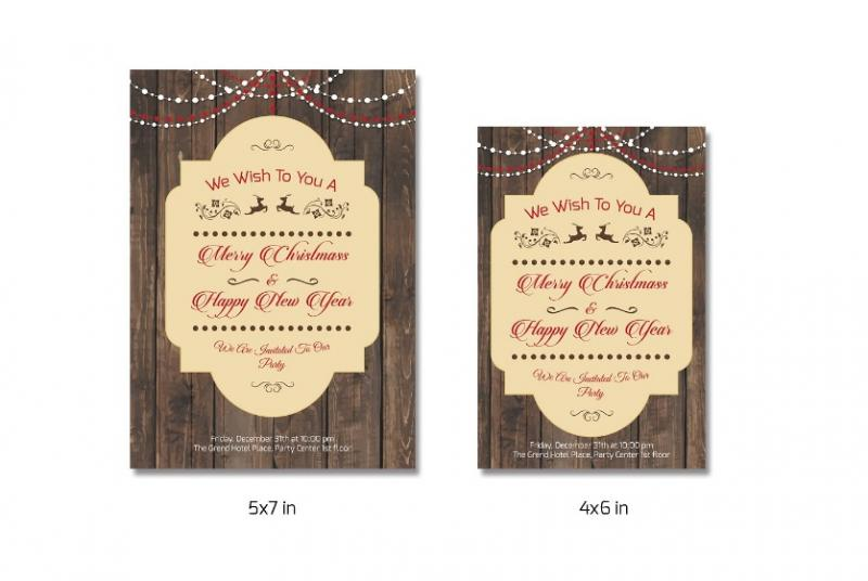 Printable Christamas Invitation Template
