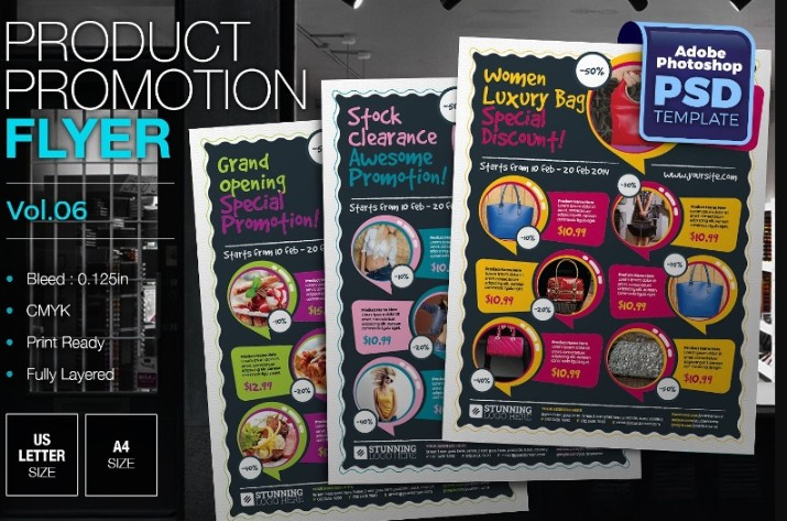 Products Flyer Template PSD