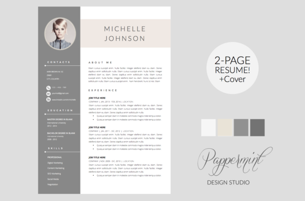 Professional 2 Page Resume Template