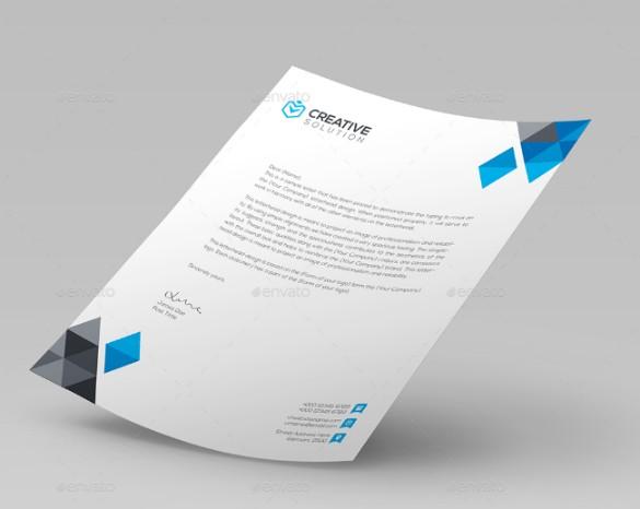 Professional Business Letterhead Template