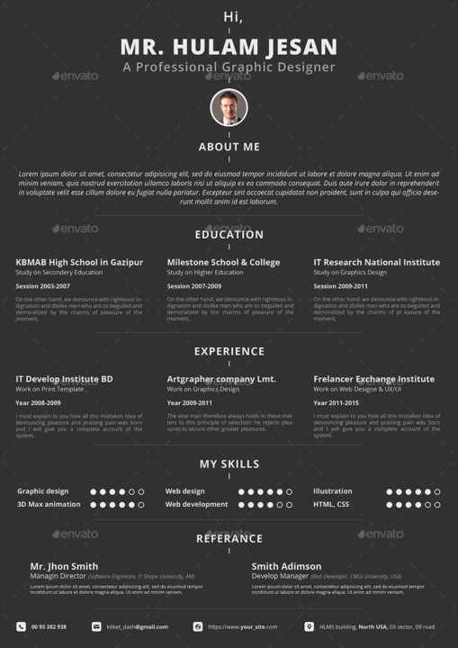 Professional CV Template Design