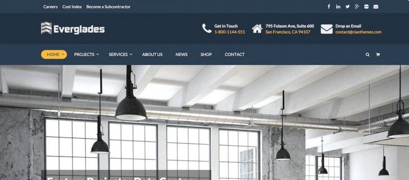 Professional Construction WordPress Theme