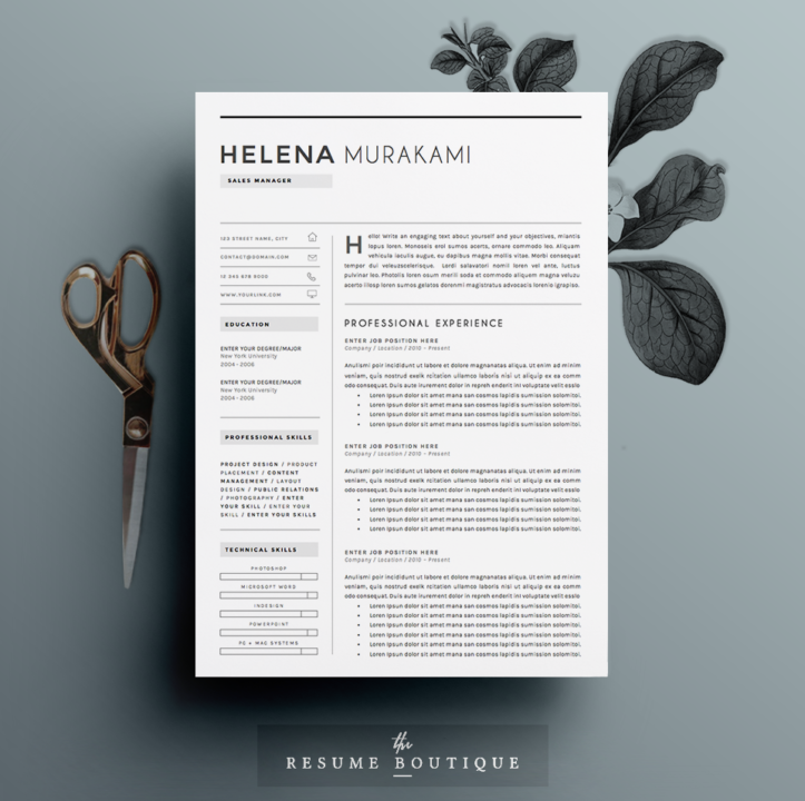 Professional Resume Template for Sales Manager