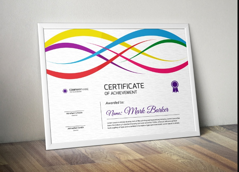 Professional Training Certificate Template
