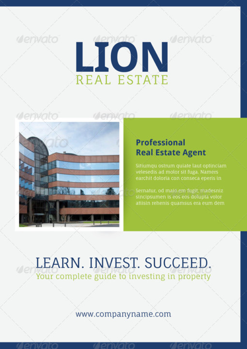 Property Agents Brochure Template