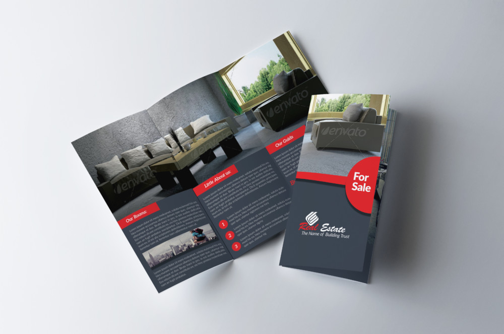 Real Estate Advertisement Brochure Template