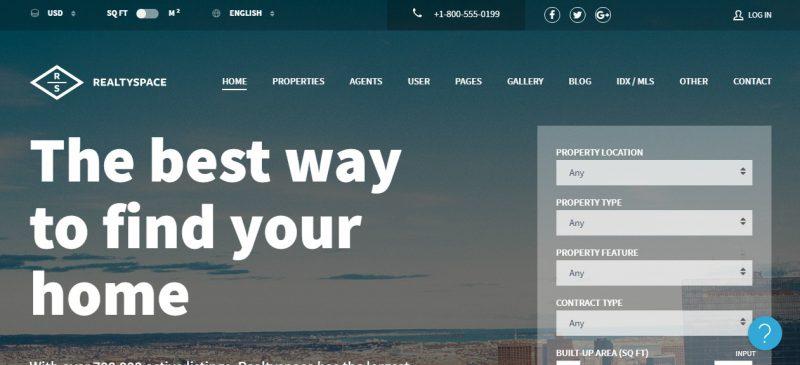 Real Estate Agents WordPress Theme