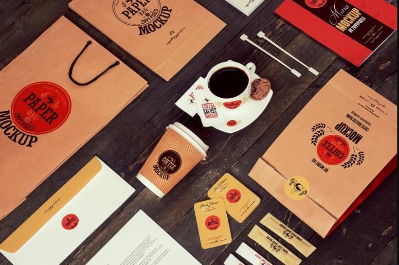 Realistic Coffee Branding Mockup PSD