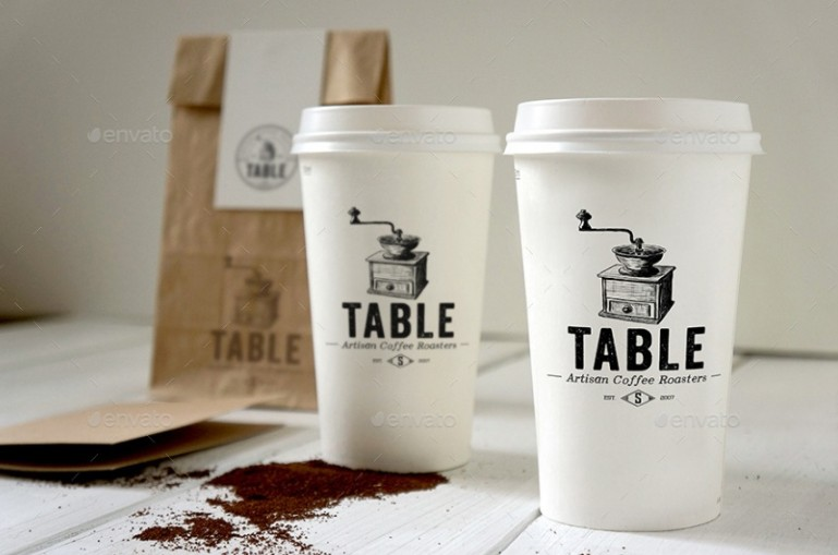 Realistic Coffee Shop Branding Mockup