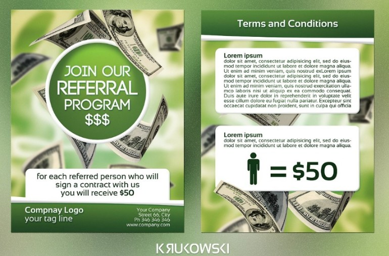 Referral Sales Flyer Template