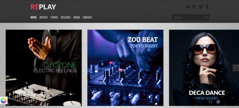 Responsive Music WordPress Theme