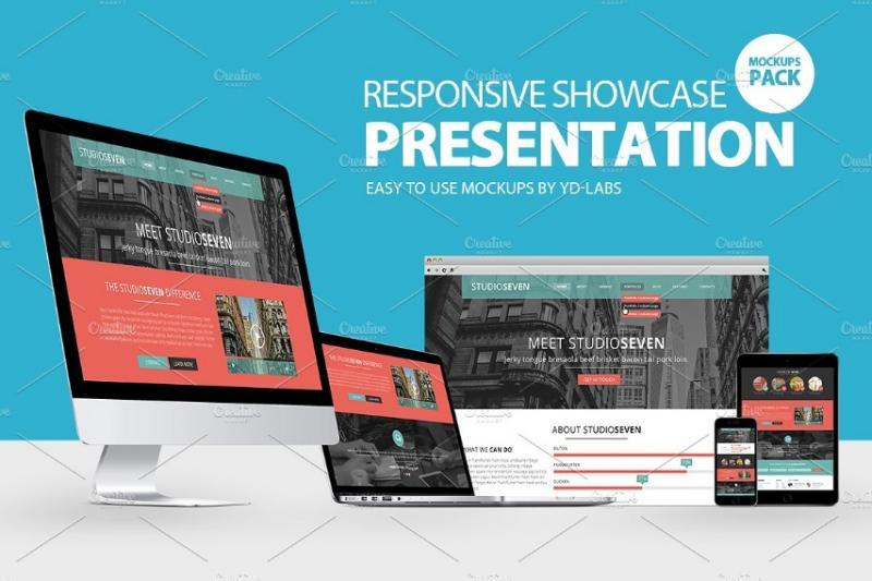 Responsive Presentation Mockup PSD