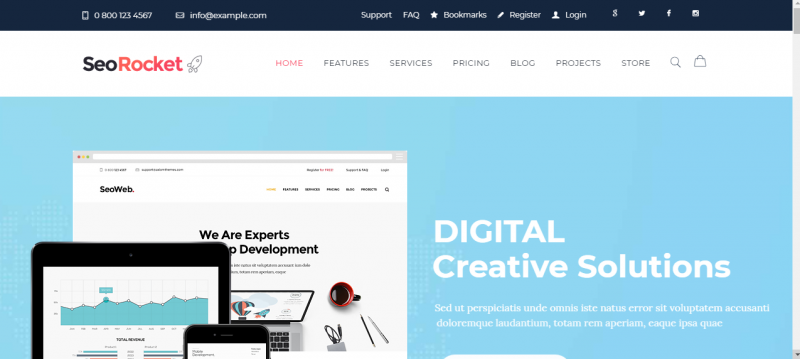 Responsive SEO WordPress Theme