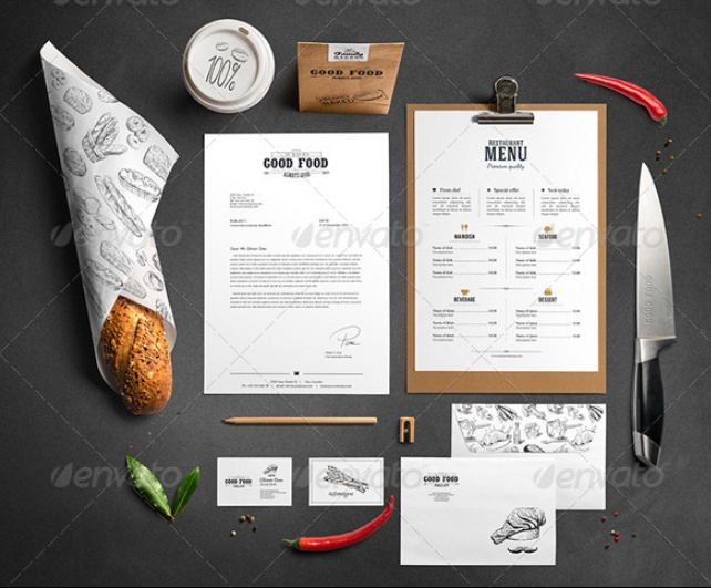 Restaurant Branding PSD Mockup