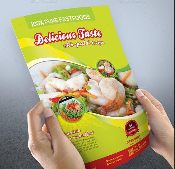 Restaurant Marketing Flyer Template