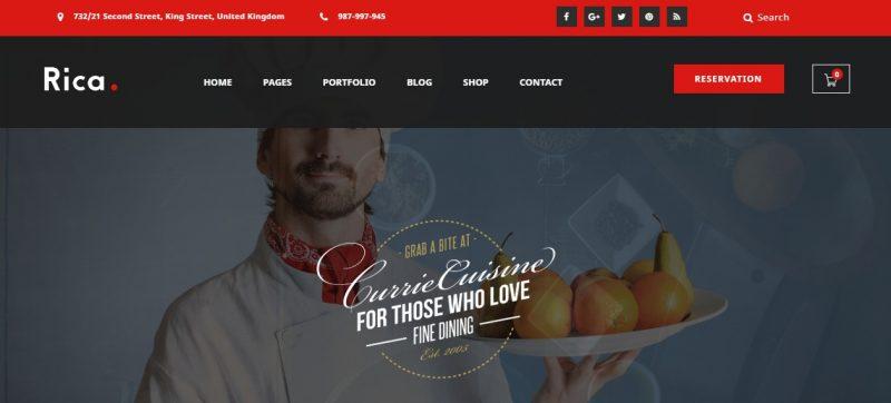 Restaurant SEO WordPress Theme